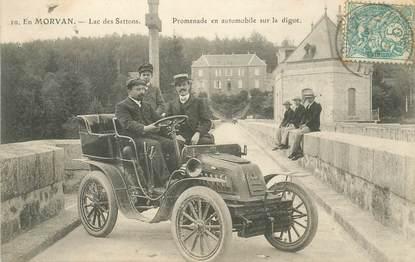 """CPA FRANCE 58 """"Lac des Settons, Promenade en automobile"""""""