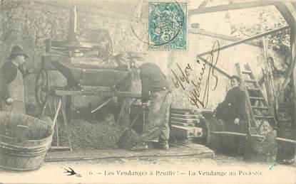 """CPA FRANCE 58 """"Pouilly sur Loire, les vendanges au pressoir"""""""