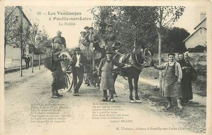 """CPA FRANCE 58 """"Pouilly sur Loire, les vendanges """""""