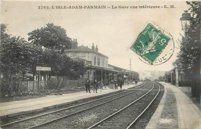 """CPA FRANCE 95 """"L'Isle Adam Parmain, la gare"""""""
