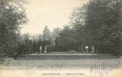 """CPA FRANCE 95 """"Saint Gratien, Théâtre de Verdure"""""""