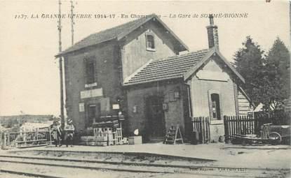 """CPA FRANCE 51 """"La Gare de Somme Bionne"""""""