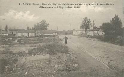 """CPA FRANCE 51 """"Auve, rue de l'Eglise"""""""