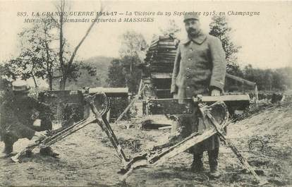 "CPA FRANCE 51 ""Massiges, mitrailleuses allemandes capturées"""