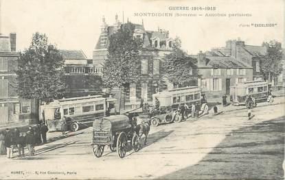 "CPA FRANCE 80 ""Montdidier, autobus parisiens"""