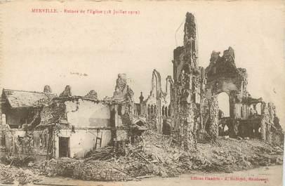 """CPA FRANCE 59 """"Merville, ruines de l'Eglise"""""""