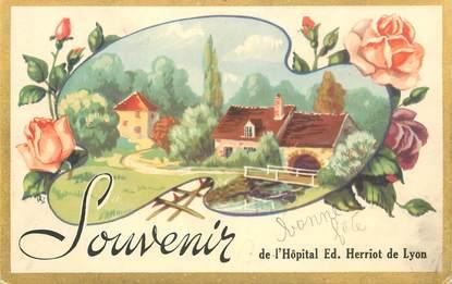 "CPA FRANCE 69 ""Lyon, souvenir de l'Hôpital Ed. Herriot de Lyon"""
