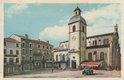 """CPA FRANCE 69 """"Amplepuis, place centrale et l'Eglise"""""""