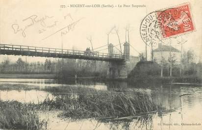 """CPA FRANCE 72 """"Nogent sur Loir, le pont suspendu"""""""