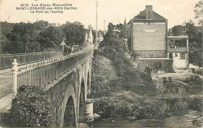 """CPA FRANCE 72 """"Saint Léonard des Bois, le pont du Touring"""""""