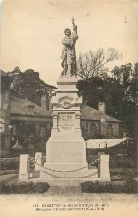 """CPA FRANCE 76 """"Sassetot le Mauconduit, monument aux morts"""""""