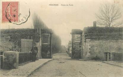 "CPA FRANCE 80 ""Péronne, Porte de Paris"""