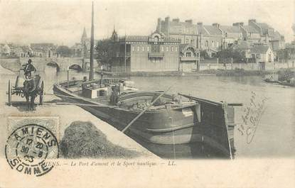 "CPA FRANCE 80 ""Amiens"" / PENICHE / BATELLERIE"