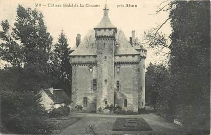 "CPA FRANCE 23 ""Chateau féodal de La Chezotte près Ahun"""