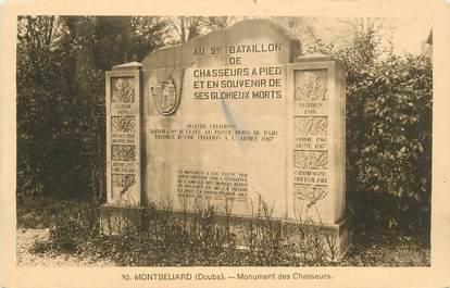 """CPA FRANCE 25 """"Montbéliard, le monument des Chasseurs"""""""