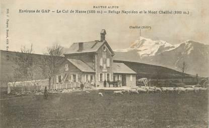 """CPA FRANCE 05 """"Env. de Gap, Le Col de Manse, Refuge Napoléon et le Mont Chaillol"""""""