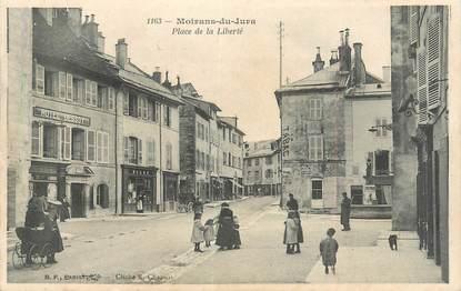 """/ CPA FRANCE 39 """"Moirans du Jura, place de la liberté"""""""