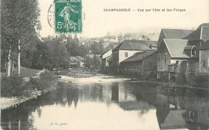 """/ CPA FRANCE 39 """"Champagnole, vue sur l'Ain et les Forges"""""""