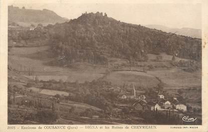 """/ CPA FRANCE 39 """"Digna et les ruines de Chevreaux"""""""