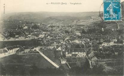 "/ CPA FRANCE 39 ""Poligny, vue générale"""