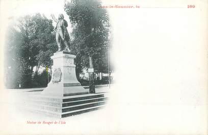 """/ CPA FRANCE 39 """"Lons Le Saunier, statue de Rouget de l'Isle"""""""