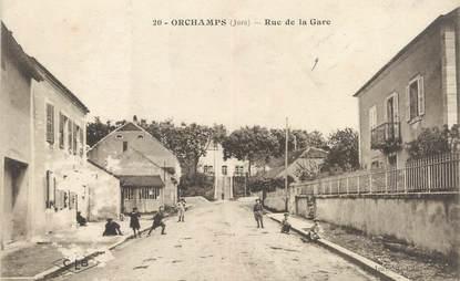"""/ CPA FRANCE 39 """"Orchamps, rue de la gare"""""""
