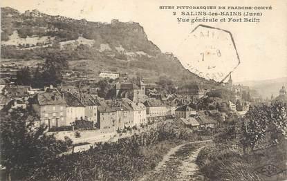 """/ CPA FRANCE 39 """"Salins les Bains, vue générale et Fort Belin"""""""
