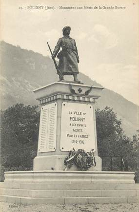 """/ CPA FRANCE 39 """"Poligny, monument aux morts"""""""