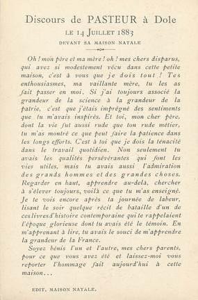 """/ CPA FRANCE 39 """"Dole, Pasteur"""""""
