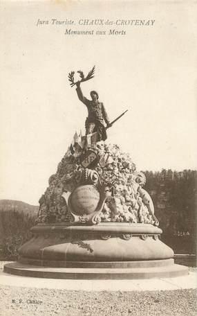 """/ CPA FRANCE 39 """"Chaux des Crotenay, monument aux morts"""""""