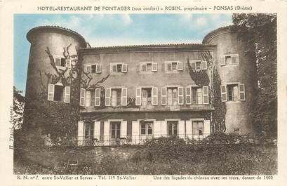"CPA FRANCE 26 ""Hotel Restaurant de Fontager, Ponsas"""