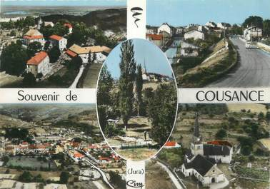 """/ CPSM FRANCE 39 """"Souvenir de Cousance"""""""