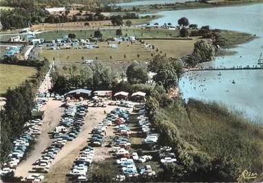 """/ CPSM FRANCE 39 """"Clairvaux les Lacs, la plage et les terrains de camping"""""""
