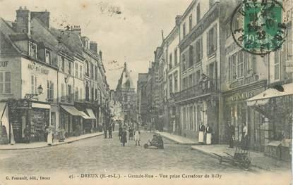 "CPA FRANCE 28 ""Dreux, la Grande rue"""