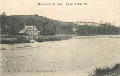 """CPA FRANCE 29 """"Chateauneuf du Faou, Ecluse de Bizernic"""""""