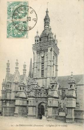 "CPA FRANCE 29 ""St Thégonnec, l'Eglise"" / CACHET AMBULANT"