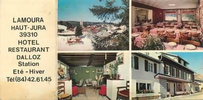 """/ CPSM LIVRET FRANCE 39 """"Lamoura, hôtel restaurant Dalloz"""""""
