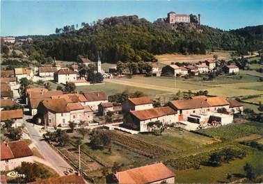 """/ CPSM FRANCE 39 """"Cressia, vue générale aérienne et le château """""""