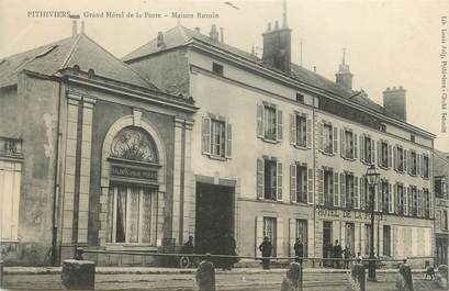 """/ CPA FRANCE 45 """"Pithiviers, grand hôtel de la poste, maison Ronsin"""""""