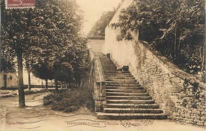 """/ CPA FRANCE 45 """"Pithiviers, l'escalier des remparts"""""""