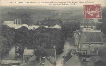 """/ CPA FRANCE 45 """"Pithiviers, vue d'ensemble des quartiers de la mairie"""""""