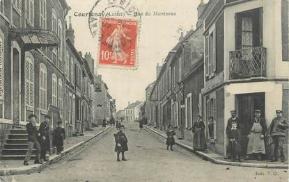 "/ CPA FRANCE 45 ""Courtenay, rue du Martineau"""