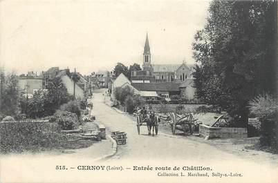 """/ CPA FRANCE 45 """"Cernoy, entrée route de Châtillon"""""""