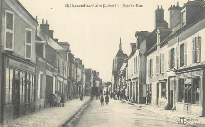 """/ CPA FRANCE 45 """"Châteauneuf sur Loire, grande rue"""""""