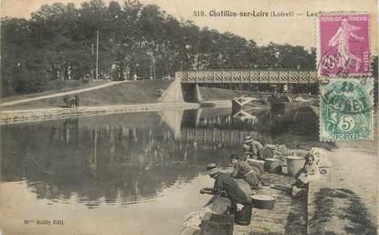 """/ CPA FRANCE 45 """"Chatillon sur Loire"""" / LAVEUSES"""