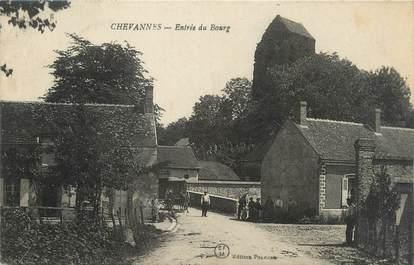 """/ CPA FRANCE 45 """"Chevannes, entrée du bourg"""""""