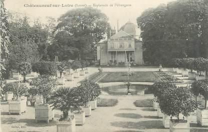 """/ CPA FRANCE 45 """"Châteauneuf sur Loire, esplanade de l'Orangerie"""""""