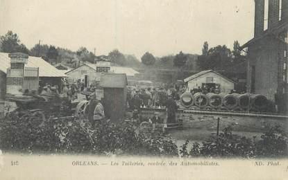 """/ CPA FRANCE 45 """"Orléans, les tuileries, rentrée des automobilistes"""""""