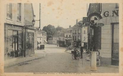 """/ CPA FRANCE 45 """"Malesherbes, rue Saint Eloi, et place du Martroi"""""""