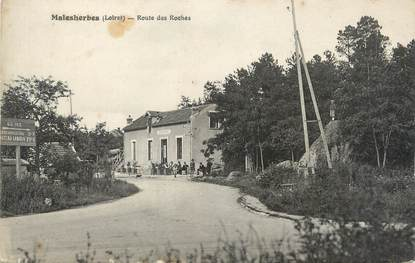 """/ CPA FRANCE 45 """"Malesherbes, route des Roches"""""""